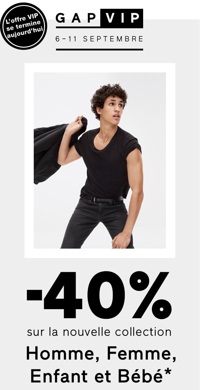 -40% sur la nouvelle collection