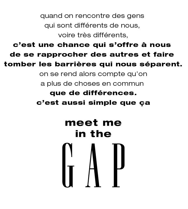 meet me in the GAP