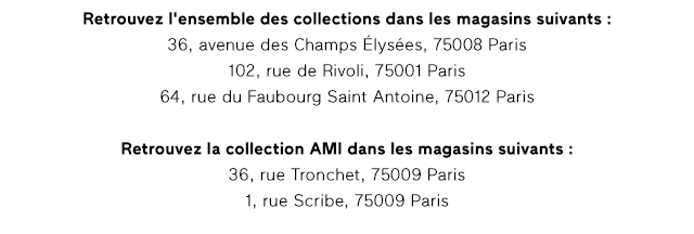 Retrouvez l'ensemble des collections dans les magasins suivants: