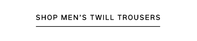 SHOP MEN'S TWILL TROUSERS